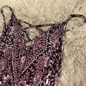 🎃Angie ~ Purple Boho Romper With Pockets🎃